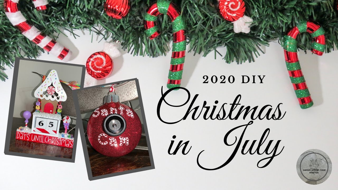 Countdown To Christmas In July 2020 2020 DIY Christmas in July | Gingerbread House Countdown & Santa