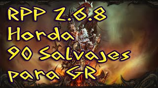 Diablo3 RPP Set de Bárbaro Horda de 90  salvajes sólo para GR
