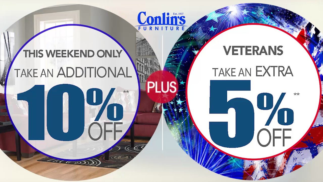 Conlinu0027s Furniture   Veterans Day Sale Nov 17