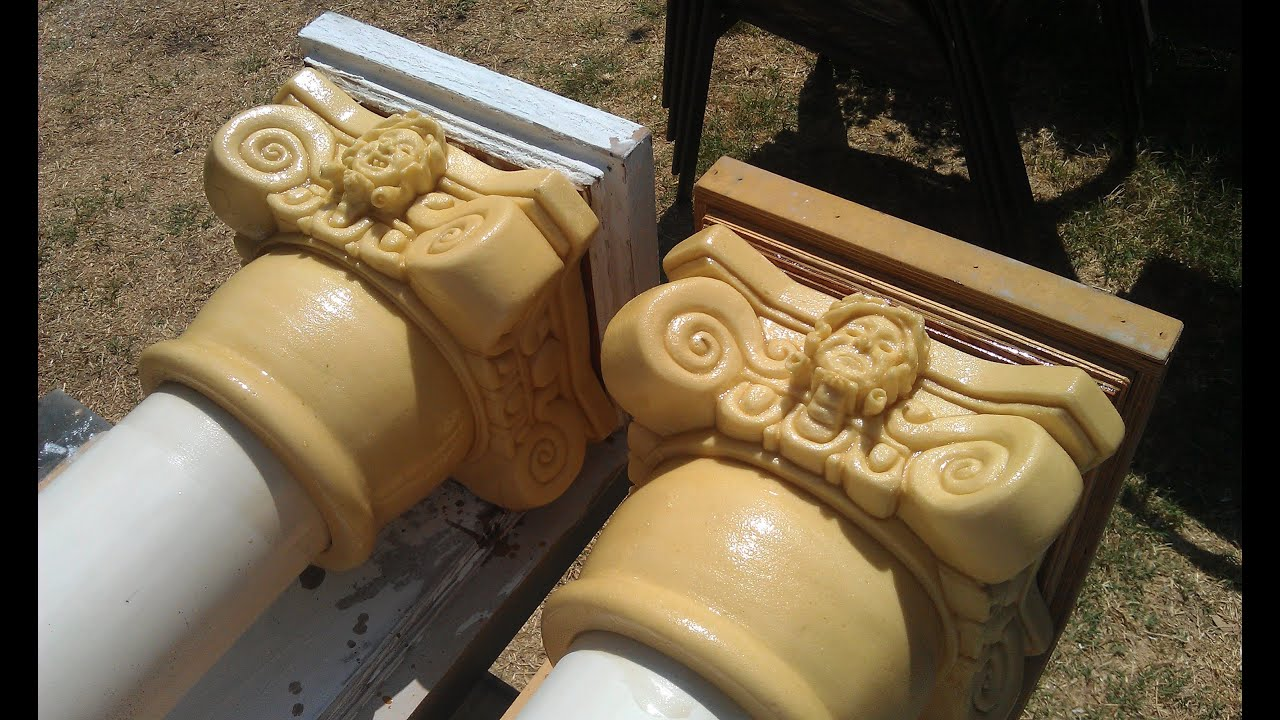 Carving foam capitals for pillars columns halloween