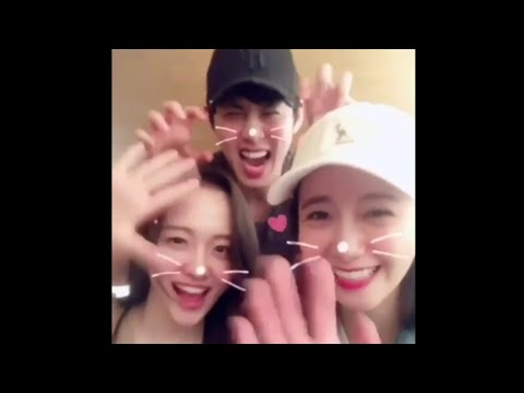 180404 |Yoona and Hong JongHyun hang out together with other cast of King Loves, posted in instagram