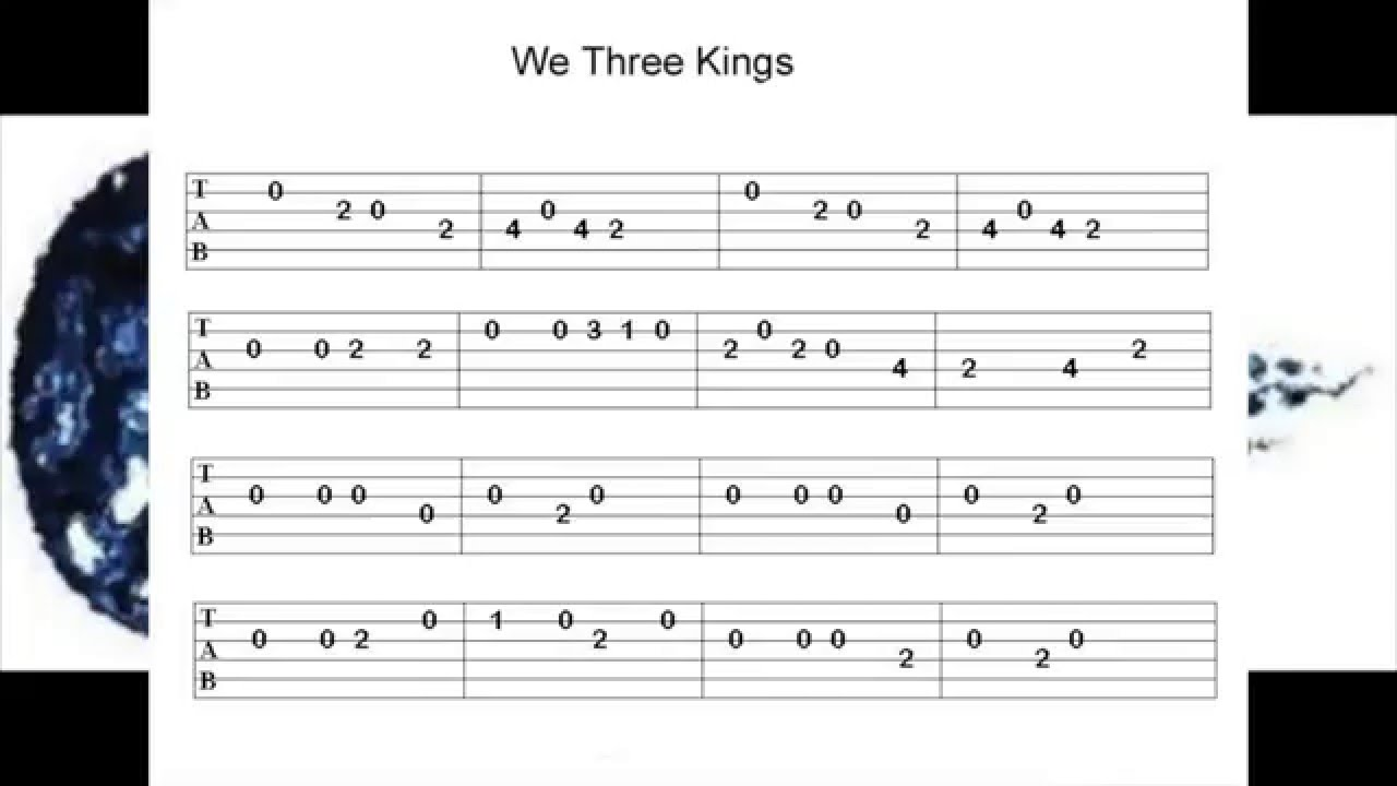 we three kings christmas tune guitar tab 140 bpm video 60 youtube. Black Bedroom Furniture Sets. Home Design Ideas
