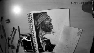 Axl Rose - Timelapse Drawing