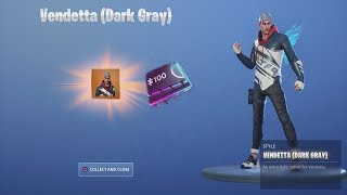 *UNLOCKING* (DARK GRAY) TIER 100 'VENDETTA' After Finding Todays NEW Fortnite Fortbyte Location!
