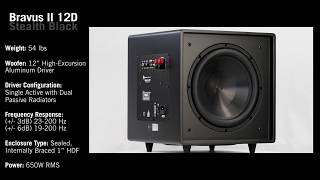 Aperion Audio Bravus II 12D Subwoofer 360 (Stealth Black)