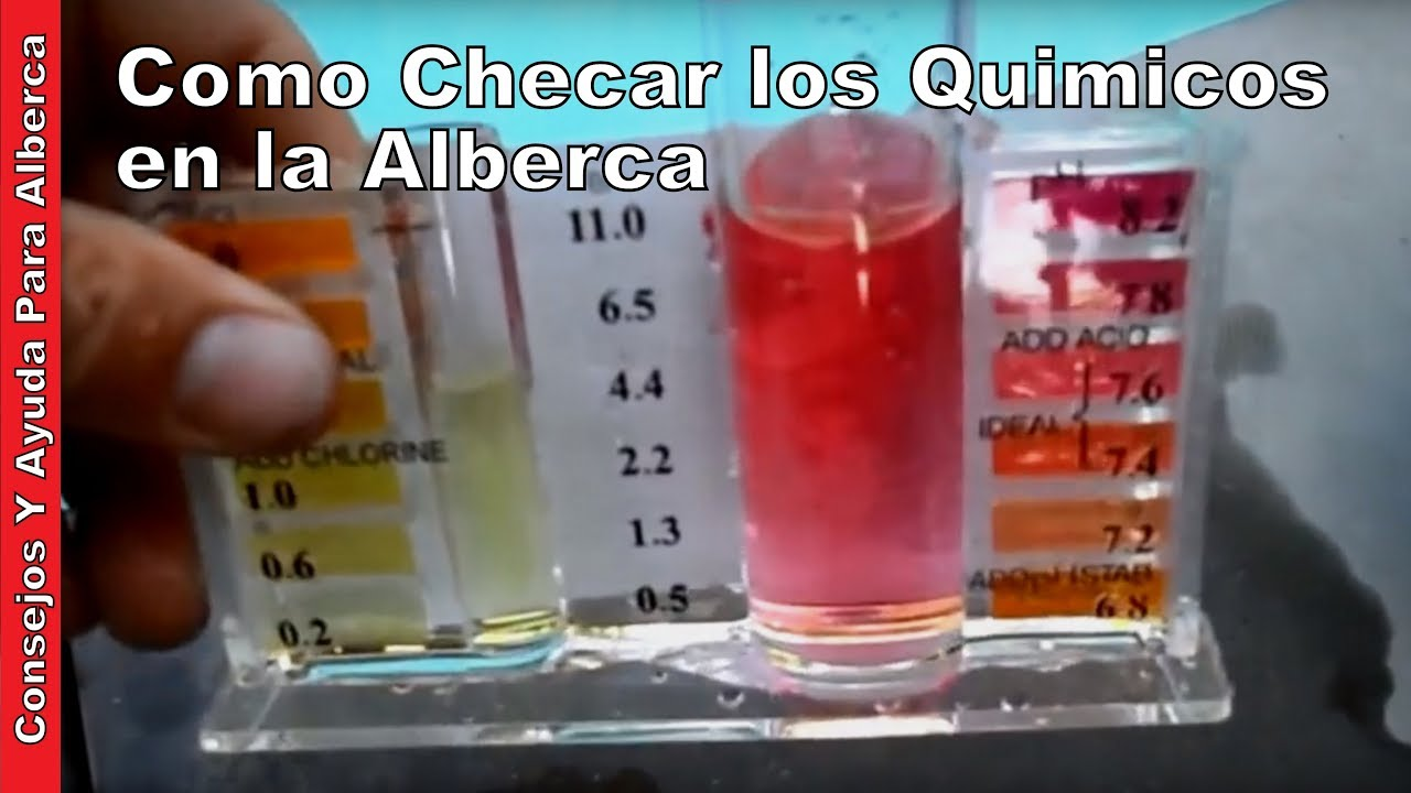 Como checar los quimicos en la alberca youtube for Cloro alto en la piscina