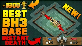 BEST Builder Hall 3 Base with PROOF!! | NEW CoC BH3 ANTI 2 STAR Builder Base! | Clash of Clans