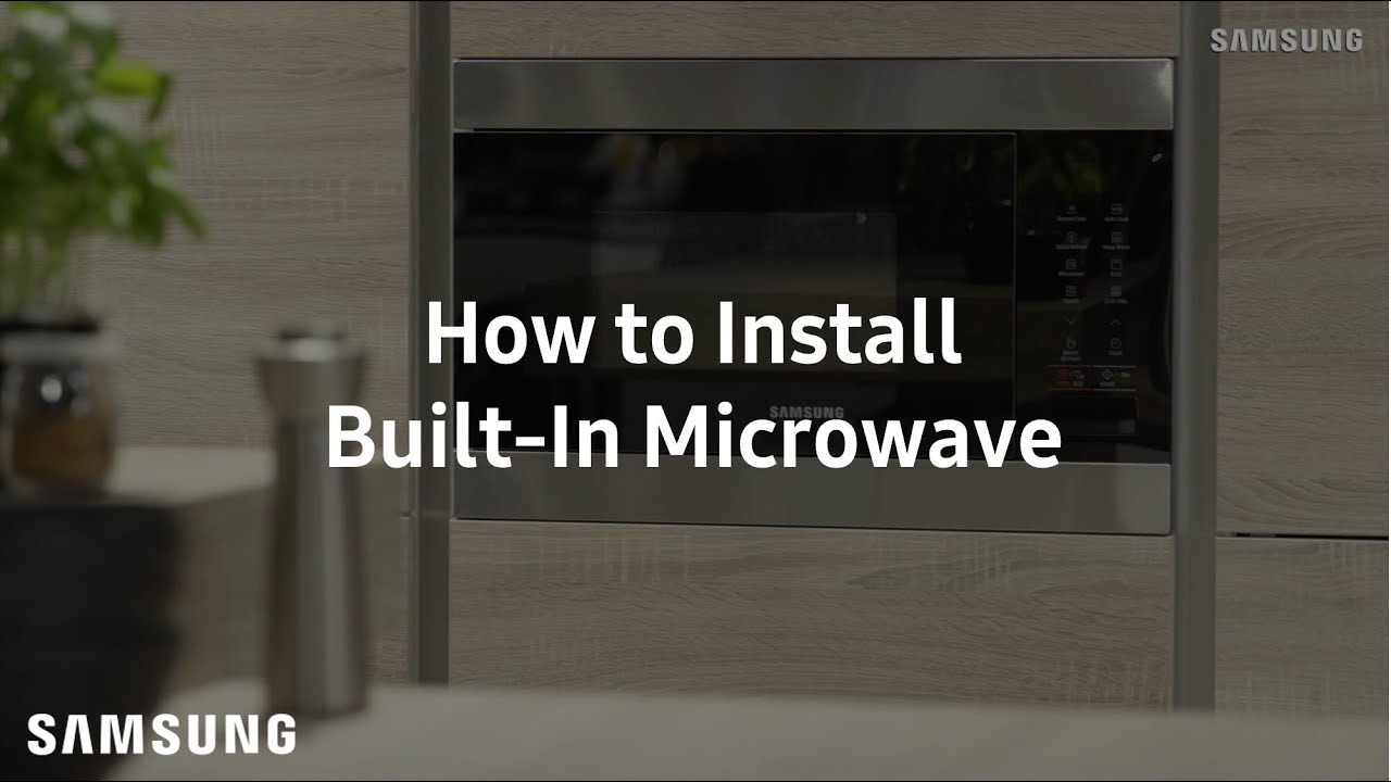 samsung built in microwave installation guide