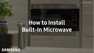 Samsung Built-In Microwave : Installation Guide