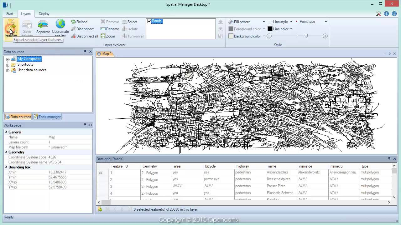 OpenStreetMap to DXF files - Spatial Manager™ (SR)