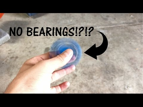 Homemade Fidget Spinner with NO BEARINGS!?!?
