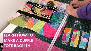 Duffle Bag Sewing Tutorial - DIY Machine Embroidery Duffle Bag Design