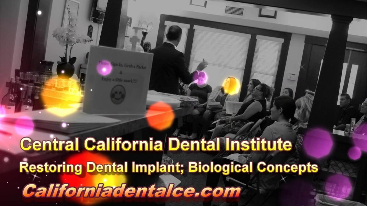Restoring Dental Implant; Biological Concepts: Part 2