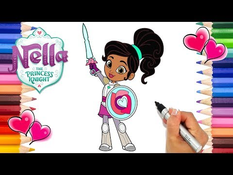 Nella The Princess Knight Coloring Page | How To Draw Nella The Princess Knight Nick Jr. | Printable