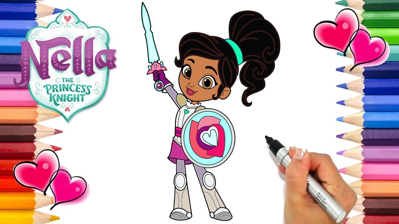 Nella The Princess Knight Coloring Page How To Draw