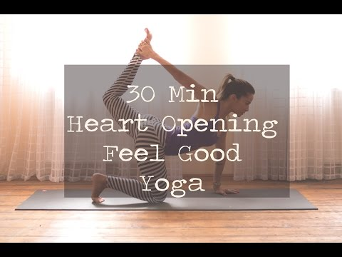 30 Min Heart Opening Feel Good Yoga