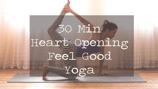 Video 30 Min Heart Opening Feel Good Yoga download MP3, 3GP, MP4, WEBM, AVI, FLV Maret 2018