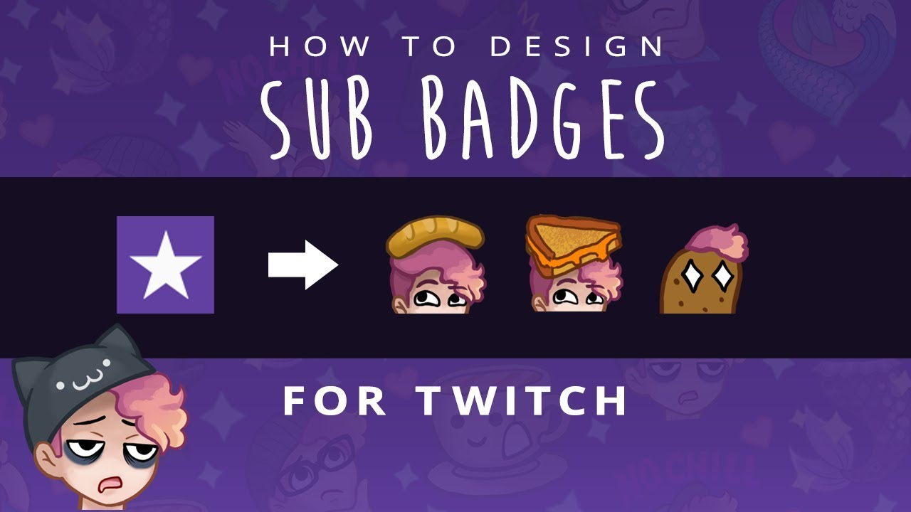 How to Design Sub Badges + Emotes for Twitch | Photoshop Method