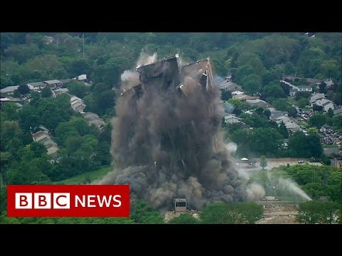 16,000 tonnes of steel gone in 16 seconds - BBC News