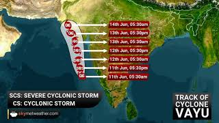 Cyclone Storm Vayu to intensify into severe cyclone today, to hit Gujarat | Skymet Weather
