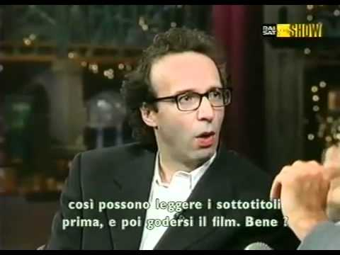 Roberto Benigni al David Letterman Show