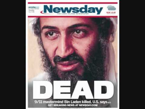 Newspaper front pages reporting the death of Osama bin Laden.