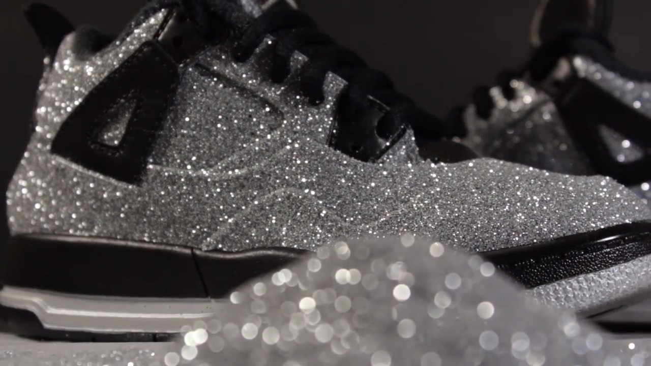 11a54558192 Custom Jordan 4 Glitter Jordan 4 Crystal 4 s - YouTube
