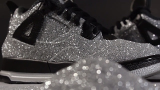 Custom Jordan 4 Glitter Jordan 4 Crystal 4's