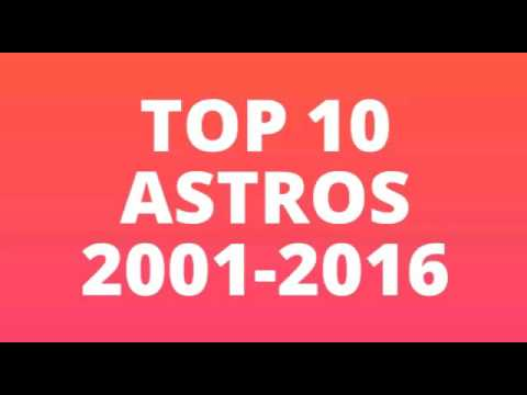 Top 10 Astros from 2001-2016