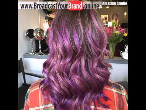 Brown Hair With Pastel Purple Ombre Highlights Youtube