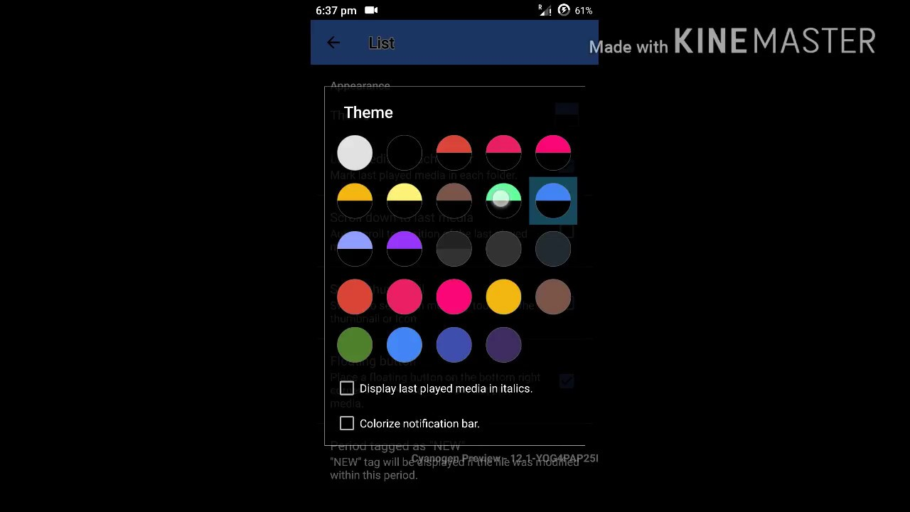 how to change theme in android