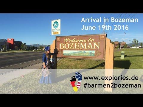 Arrival in Bozeman, Montana