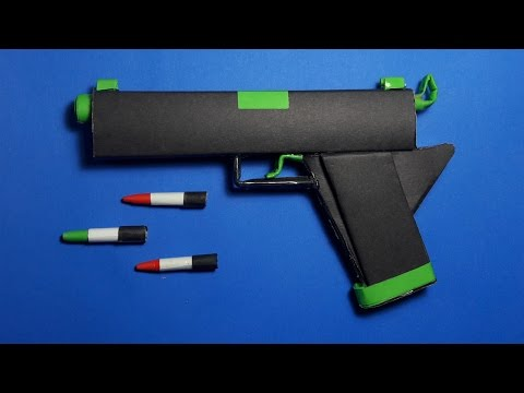 |DIY| How To Make a Paper Radiation Gun That shoots paper bullets- Toy weapons-By Dr.Origami