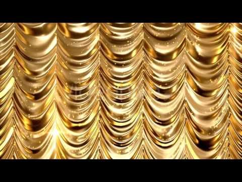Golden Curtain. Video footage on Videohive.net