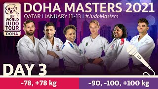 Day 3 - commentated: Doha World Judo Masters 2021