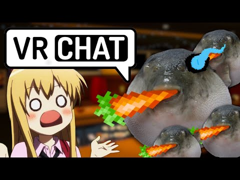 Puffer Fish Eats Carrots In VRchat...