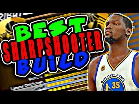 NBA 2K18 BEST SHARPSHOOTER BUILD! MOST OVERPOWERED SMALL FORWARD BUILD MYPARK NBA 2K18