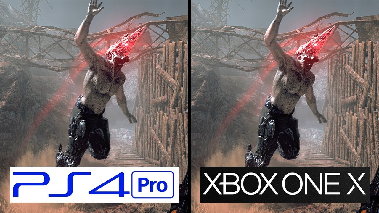 Metal Gear Survive Xbox One X Vs PS4 Pro 4K Graphics