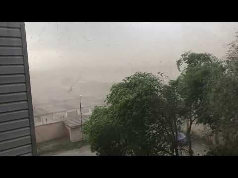 Ураган с пыльной бурей в Челябинске 03.06.2017