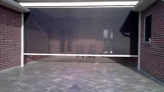 Motorized Retractable Exterior Solar Screens