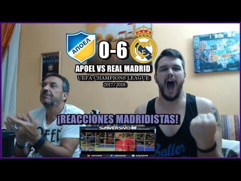 APOEL VS REAL MADRID 0-6   REACCIONES   UEFA CHAMPIONS LEAGUE 21-11-2017