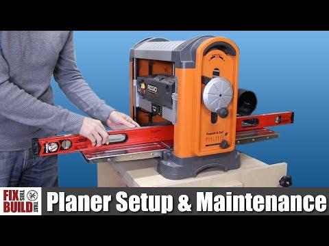 How to Use a Planer - Setup & Maintenance