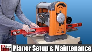 How to Use a Planer - Setup & Maintenance