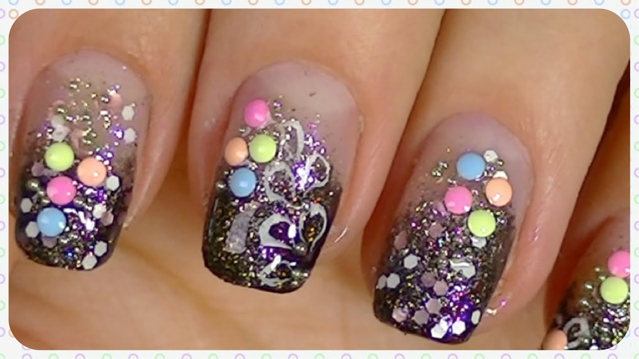 simple & fun nail art design video