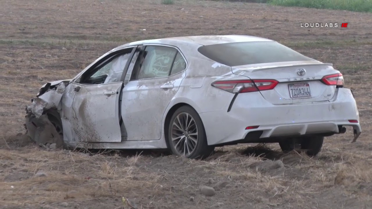 Head on Fatal Vehicle vs Motorcycle Crash / San Bernardino 8 19 18