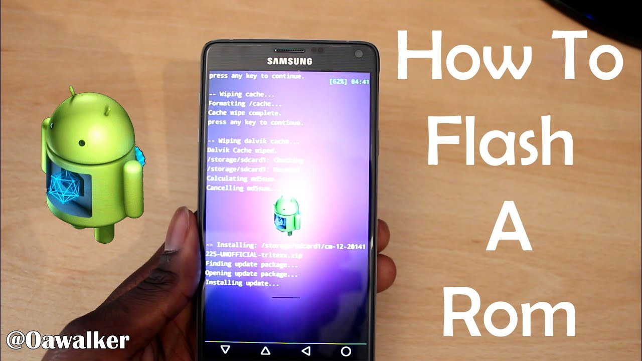 How To Flash A Rom On Samsung Galaxy Note 4 (Cyanogenmod 12)