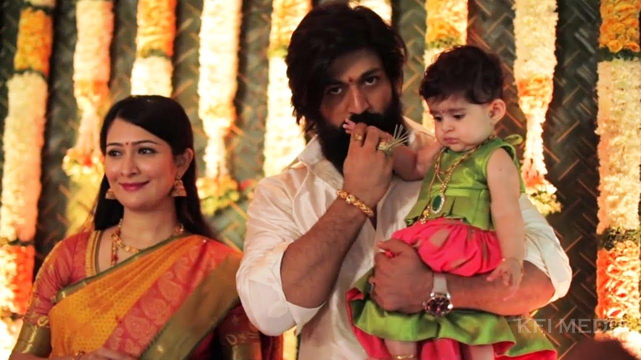 Yash Daughter Ayra - Yash Radhika Pandit Baby Naming Ceremony |Rocking Star  Yash Family Photos Video