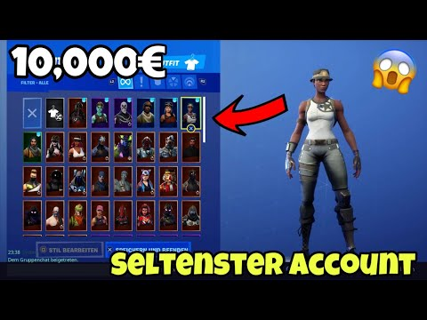 ICH HABE DEN SELTENSTEN 10,000€ ACCOUNT IN FORTNITE (Recon Expert, Ghoul Trooper, Renegade Raider..)