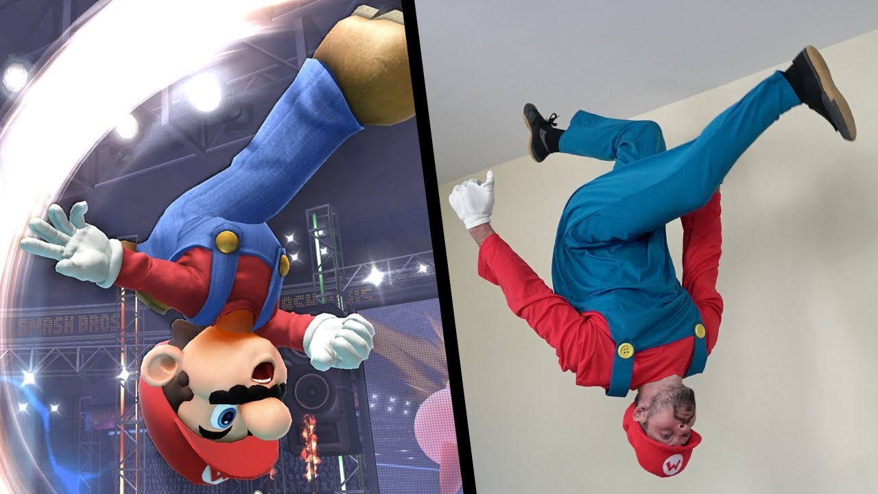 Stunts From Super Mario In Real Life (64, Sunshine, Galaxy, Smash)