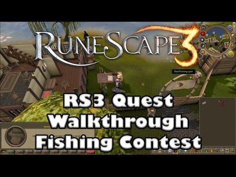 RS3 Quest Guide - Fishing Contest -  2017 (Up To Date!)